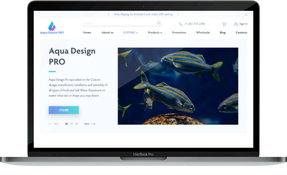 aqua design website showreel