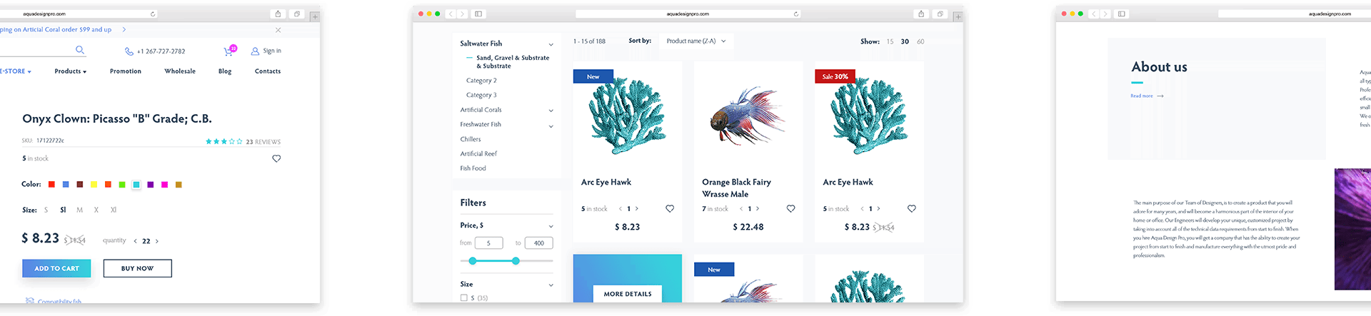designed product page portfolio