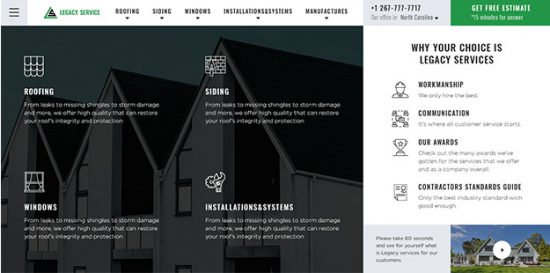 redesigned home page