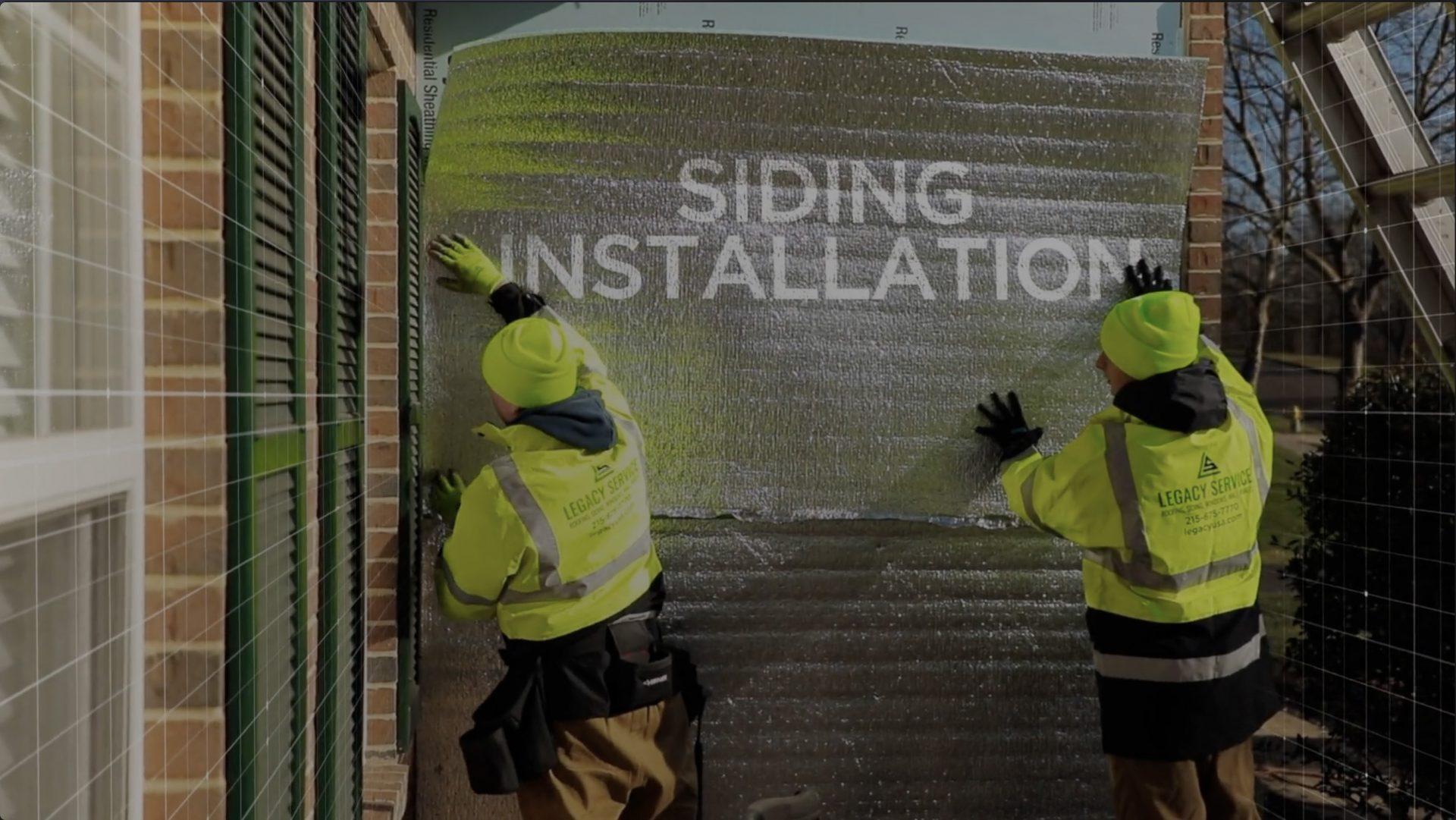 siding installation promo vidoe