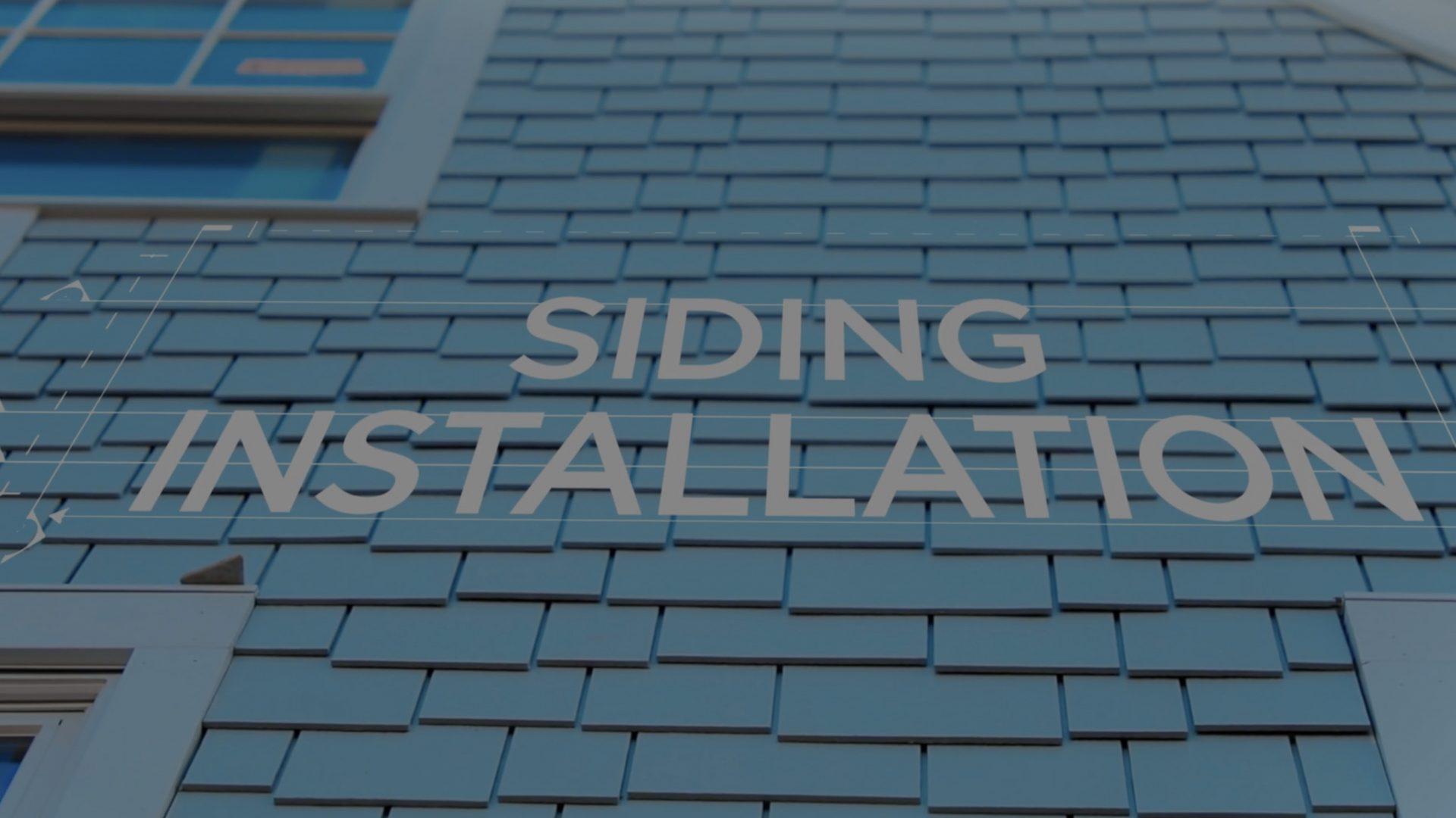 promo video for siding services portfolio